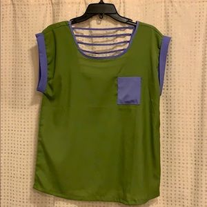 Tops - Blouse Green and Purple